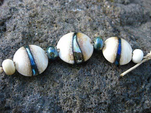Silver Triton Lentil Bead Set