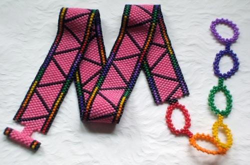 Peyote-Stitched Beadwoven Choker
