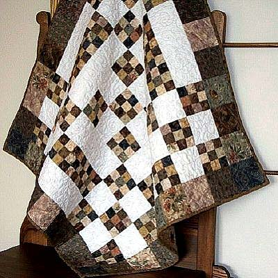Chocolate Patchwork Quilt