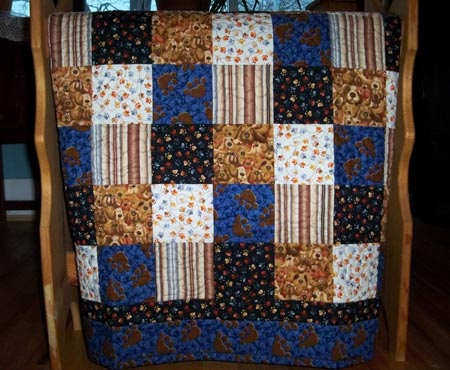 Paw Prints and Puppies Quilt
