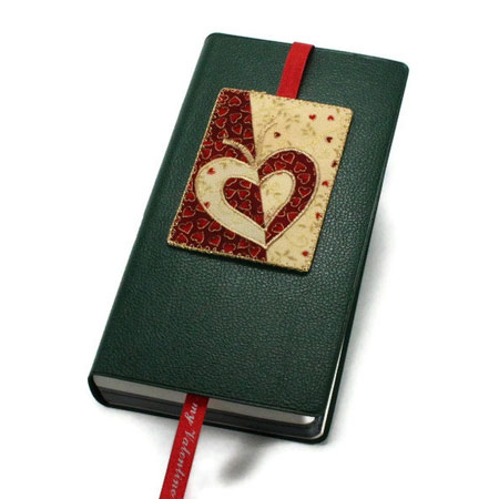 Valentine Fabric ACEO Bookmark