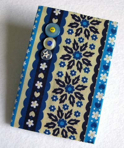 Fabric Covered Button Notebook