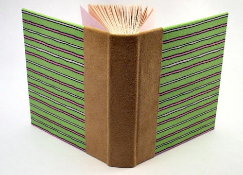 Pink and Green Handbound Journal