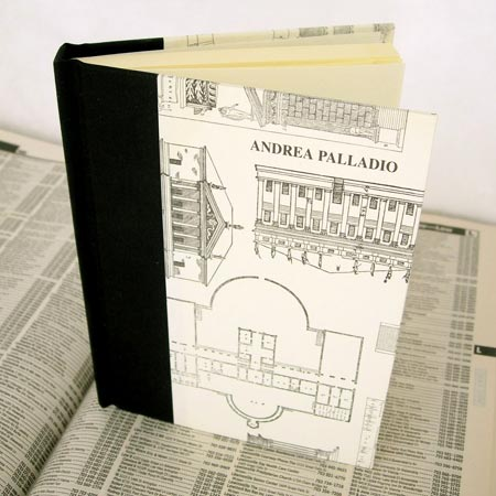 Handbound Address Book with Andrea Palladio cover