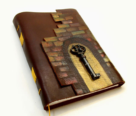 Hand Bound Painted Leather Journal