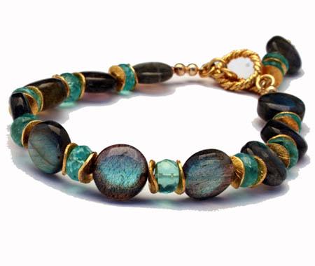 Labradorite & Apatite Bracelet