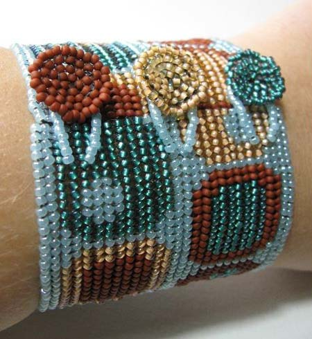 Herringbone Stitched Bracelet