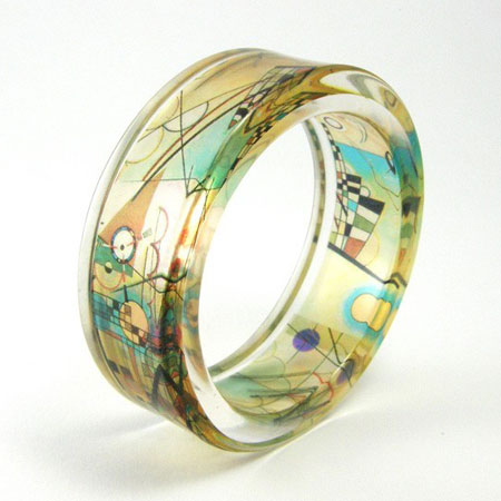 Modern Abstract Resin Bracelet