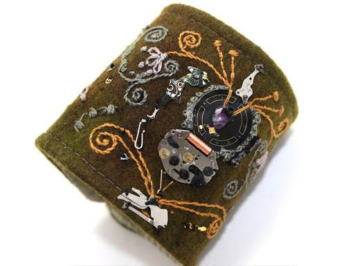 Embroidered Steampunk Cuff