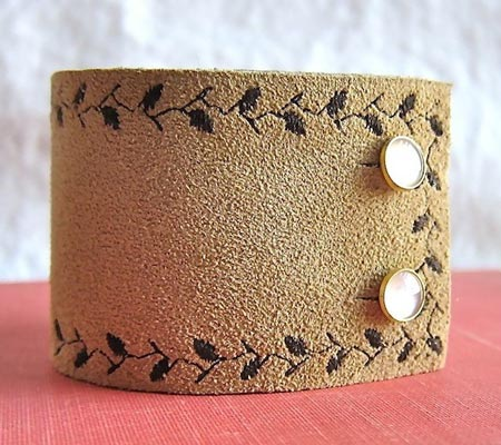 Brown Suede Cuff