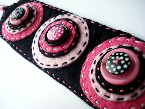 Upcycled Button Cuff