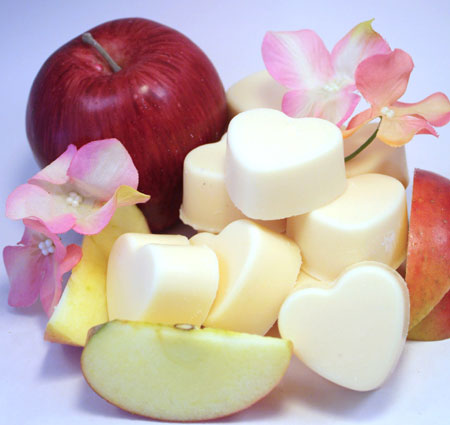 Heart Shaped and Apple Scented Soy Wax Melts