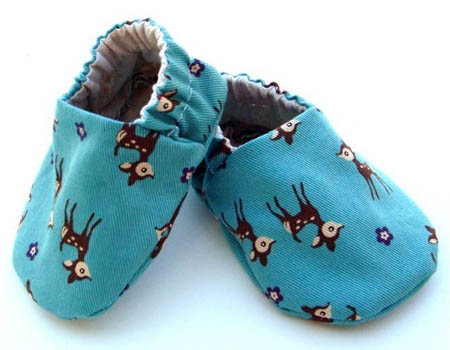 Deer Print Slip-On Booties