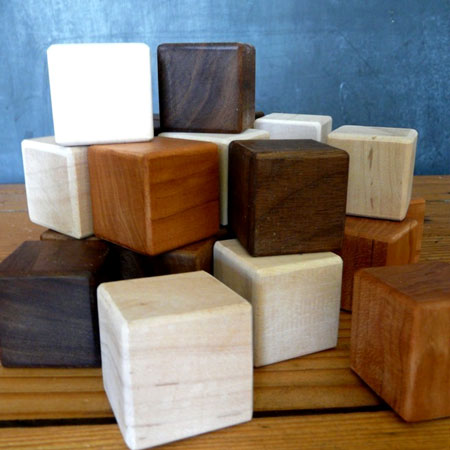 Organic Wood Building Blocks