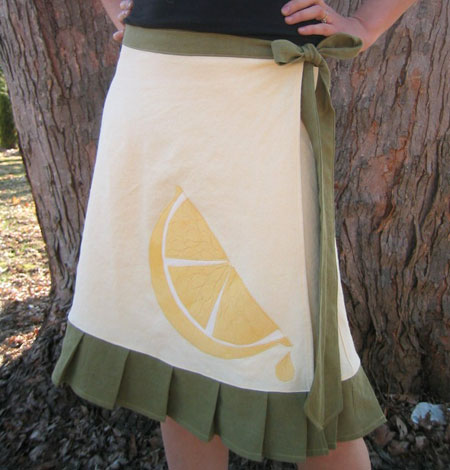 Hempcel Skirt with Lemon Applique