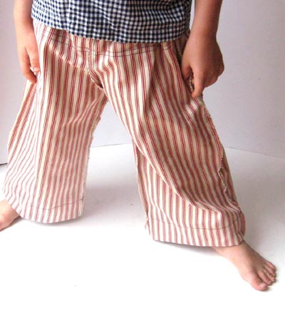 Wide Leg Boys Pants