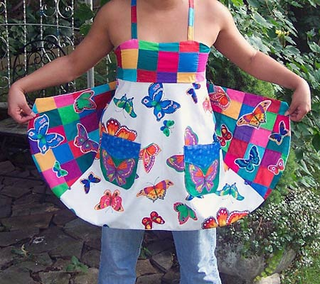 Patchwork Butterfly Apron
