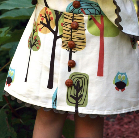 Woodland Button Skirt