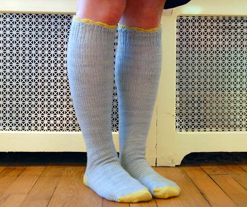 Handknit Cashmere Knee High Socks
