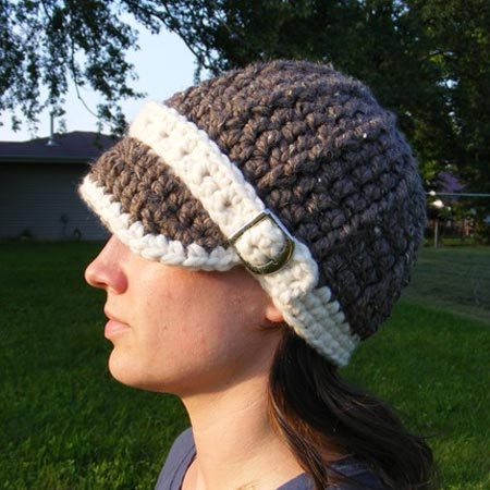 Crochet Buckle Brim Hat