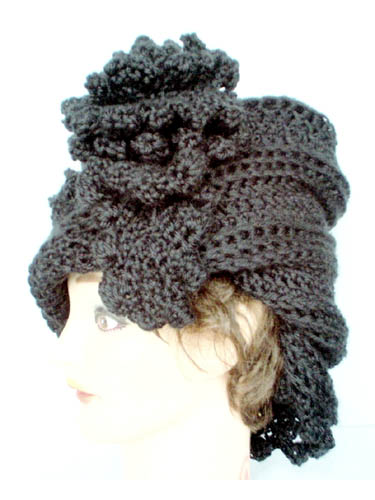 Floral Moebius Brim Hat