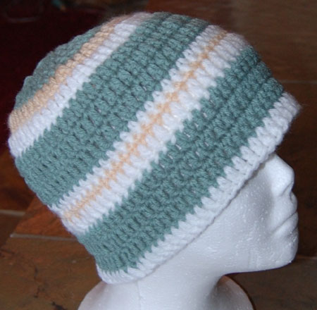 Sage Green Crochet Hat