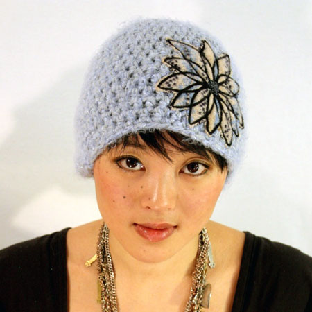 Crochet Cloche with a Flower Embellishment