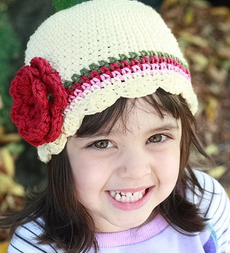 Childrens Crochet Flapper Cloche