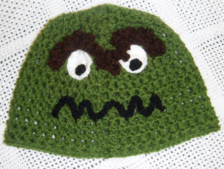 Crochet Oscar The Grouch Hat