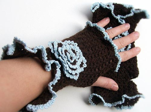 Crocheted Fingerless Mittens
