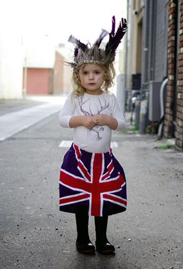 Union Jack Flag Skirt