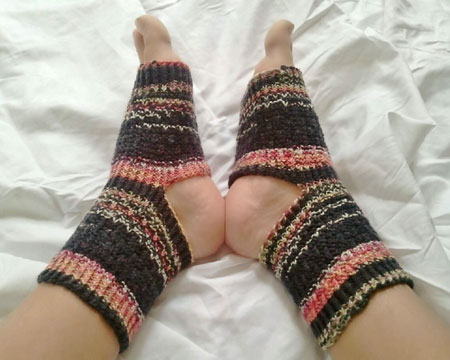 Hand Knit Toeless Pedicure Socks