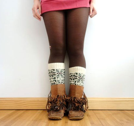 Upcycled Sweater Leg Warmers