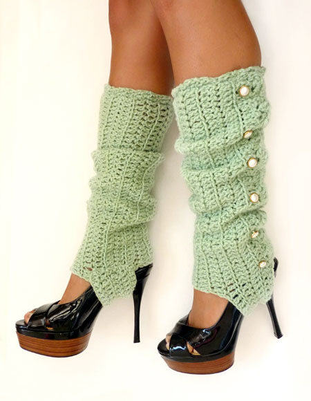 Crochet Stirrup Leg Warmers