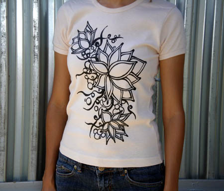 Graphic Lotus Print T-Shirt