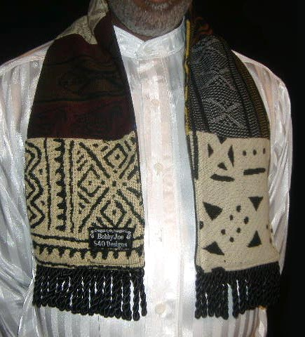 African Print Patchwork Scarf