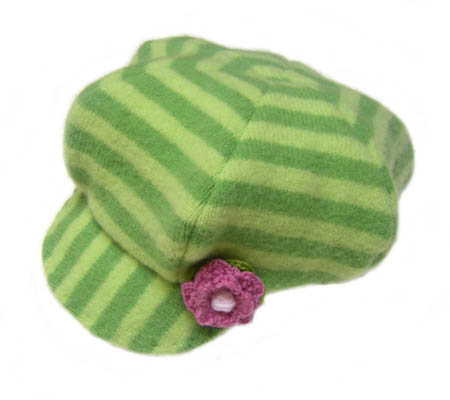 Green Wool Newsboy Hat