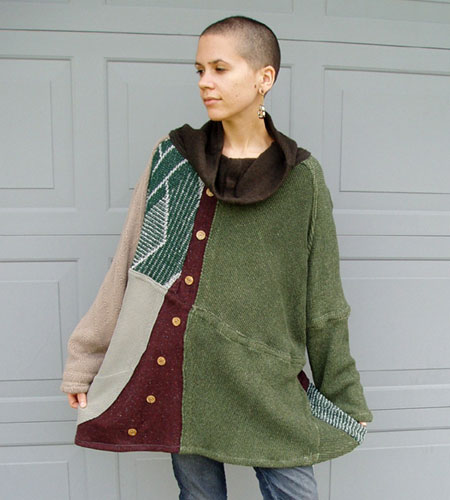Recontructed Patchwork Sweater