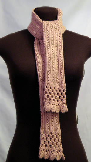 Recycled Dusty Peach Sweater Scarf