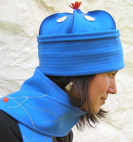 Blue Roll-Up Dome Hat