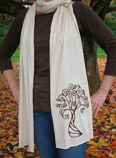 Screen Printed Tree Scarf