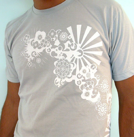 Floral Graphic Wrap Around Silkscreen Tshirt