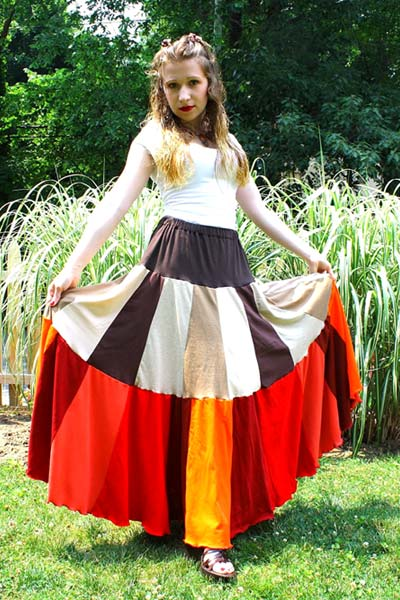 Upcycled T-Shirt Skirt