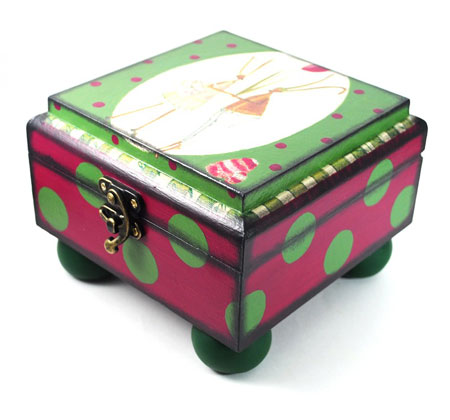 Handmade Decoupage Trinket Box