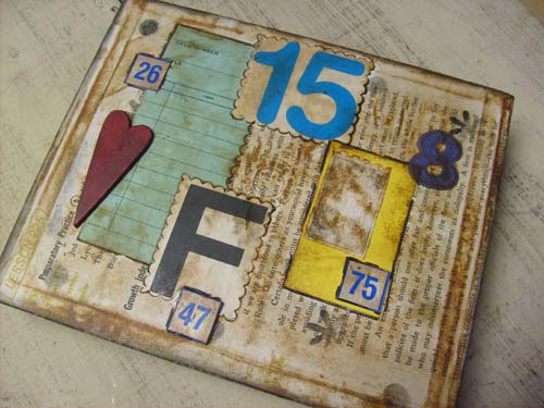 Mixed-Media Collaged Cigar Box