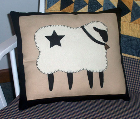 Sheep Applique Pillow