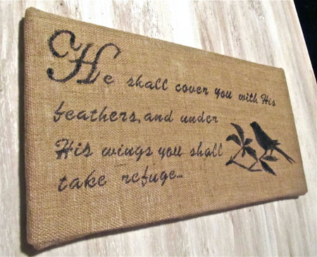 Bible Verse On Burlap Wall Art