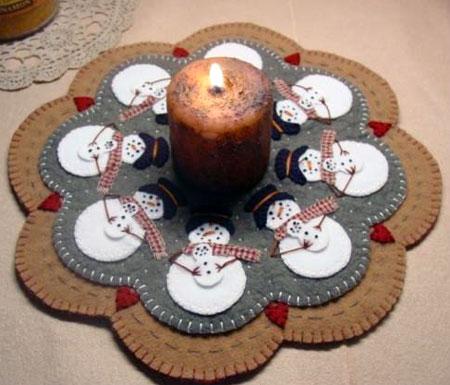 Snowman Candle Mat Pattern