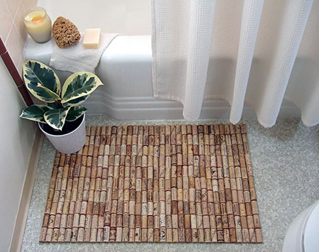 DIY Cork Bath Mat