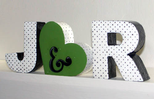 custom foam decoupage letter blocks